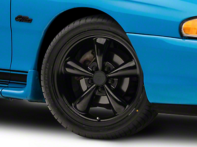 Solid Black Bullitt Wheel - 18x8 (94-04 All)