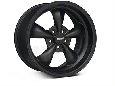 Bullitt Deep Dish Solid Matte Black Wheel - 18x10 (05-14 All, Excluding GT500)