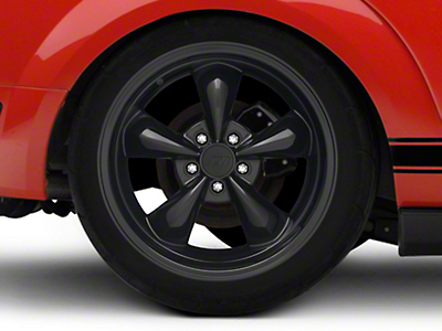 Deep Dish Bullitt Solid Black Wheel - 18x10 (05-14 All, Excluding GT500)