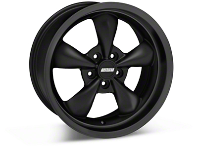 Solid Matte Black Bullitt Deep Dish Wheel 18x9 (05-14 GT, V6)