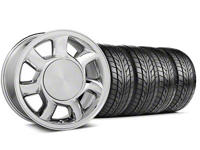 93 Cobra Style Chrome Wheel & NITTO Tire Kit - 17x8.5 (87-93; Excludes 93 Cobra)