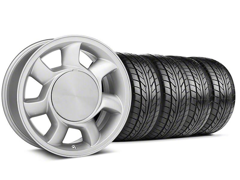 93 Cobra Style Silver Wheel & NITTO Tire Kit - 17x8.5 (87-93; Excludes 93 Cobra)