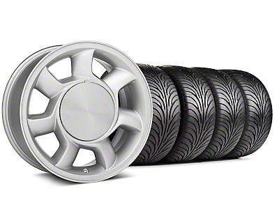 93 Cobra Style Silver Wheel & Sumitomo Tire Kit - 17x8.5 (87-93; Excludes 93 Cobra)