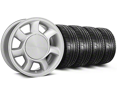93 Cobra Style Silver Wheel & Mickey Thompson Tire Kit - 17x8.5 (87-93; Excludes 93 Cobra)