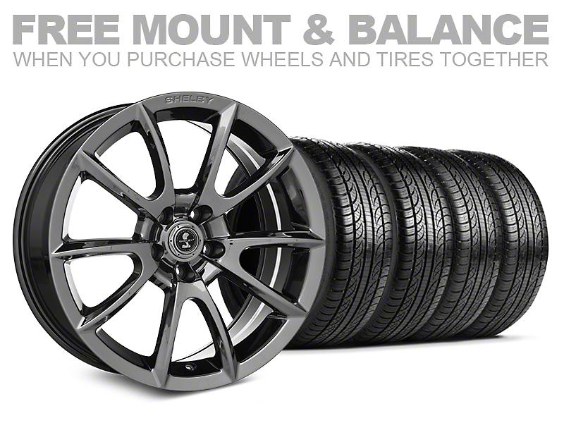 Shelby Super Snake Style Chrome Wheel & Pirelli Tire Kit- 19x8.5 (05-14 All)