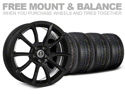 Shelby Super Snake Style Black Wheel & NITTO INVO Tire Kit- 19x8.5 (05-14 All)