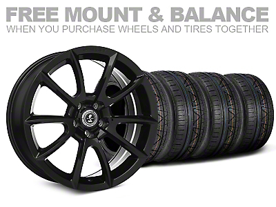Shelby Super Snake Style Black Wheel & NITTO INVO Tire Kit - 19x8.5 (05-14 All)