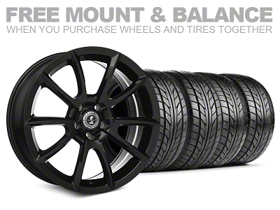 Shelby Super Snake Style Black Wheel & NITTO Tire Kit - 20x9 (05-14 All)
