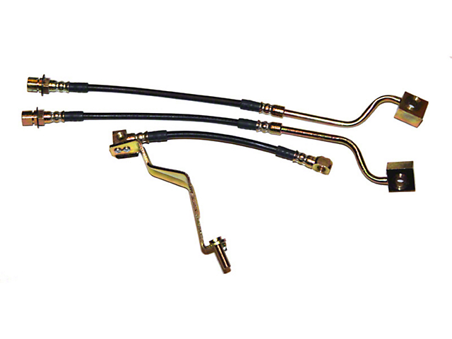 J&M Stainless Steel Teflon Brake Lines - Front & Rear (87-93 5.0L)