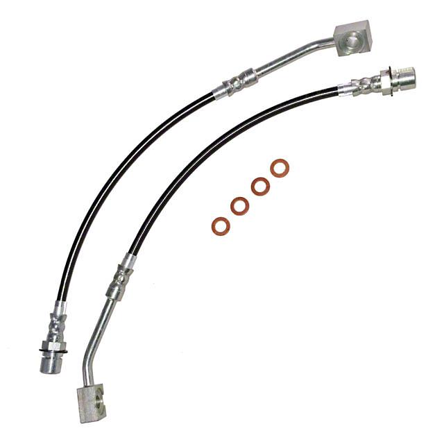 J&M Stainless Steel Teflon Brake Lines - Front (94-98 GT)