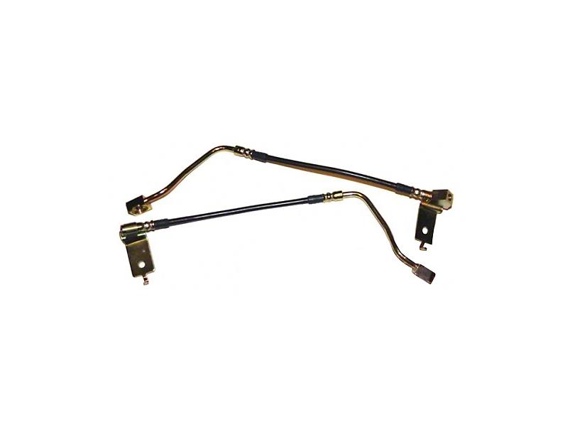 J&M Stainless Steel Teflon Brake Lines - Rear (96-98 GT, Cobra)