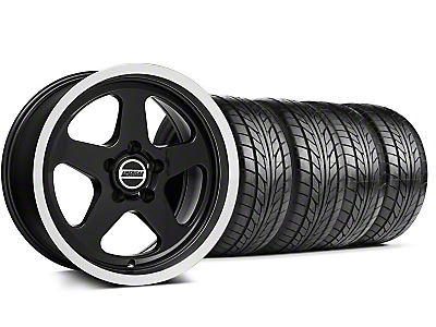 Staggered SC Style Black Wheel & NITTO Tire Kit - 17x9/10 (94-98 All)