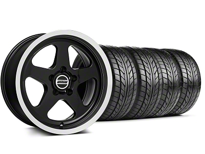 Staggered SC Style Black Wheel & NITTO Tire Kit - 17x9/10.5 (99-04 All)