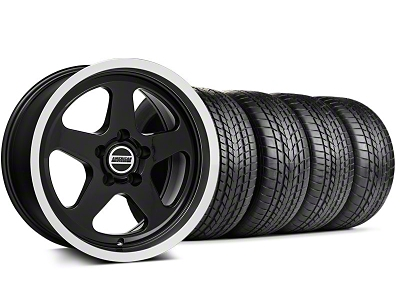 Staggered SC Style Black Wheel & Sumitomo Tire Kit - 17x9/10.5 (99-04 All)