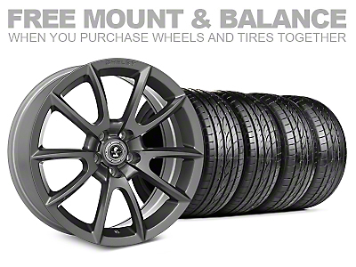 Staggered Super Snake Style Charcoal Wheel & Sumitomo Tire Kit - 20x9/10 (05-14 All)