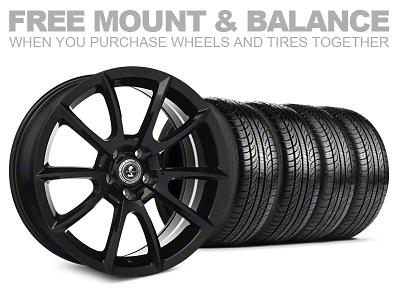 Staggered Super Snake Style Black Wheel & Pirelli Tire Kit - 19x8.5/10 (05-14 All)