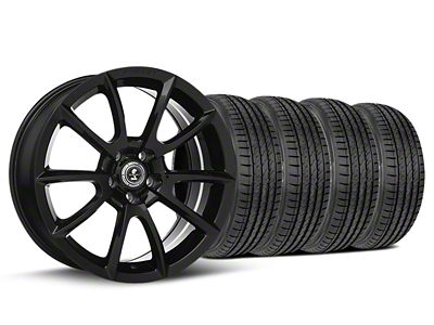 Staggered Super Snake Style Black Wheel & Sumitomo Tire Kit - 19x8.5/10 (05-14 All)