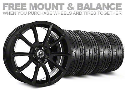Staggered Super Snake Style Black Wheel & Mickey Thompson Tire Kit - 19x8.5/10 (05-14 All)