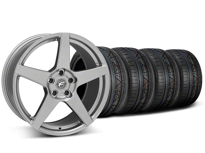 Staggered Forgestar CF5 Gunmetal Wheel & NITTO INVO Tire Kit - 20x9/11 (05-14 All)