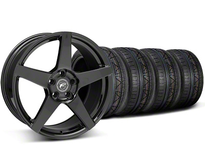 Forgestar Staggered CF5 Piano Black Wheel & NITTO INVO Tire Kit - 20x9/11 (05-14 All)