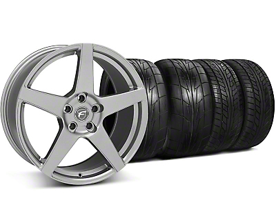Staggered Forgestar CF5 Gunmetal Wheel & NITTO Tire Kit - 20x9/11 (05-14 All)