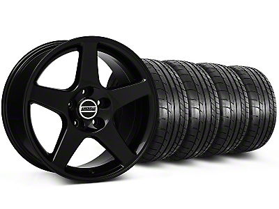 Staggered 2003 Style Cobra Black Wheel & Mickey Thompson Tire Kit - 17x9/10.5 (99-04 All)