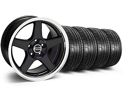 Staggered Deep Dish 2003 Style Cobra Black Wheel & Mickey Thompson Tire Kit - 17x9/10.5 (99-04 All)