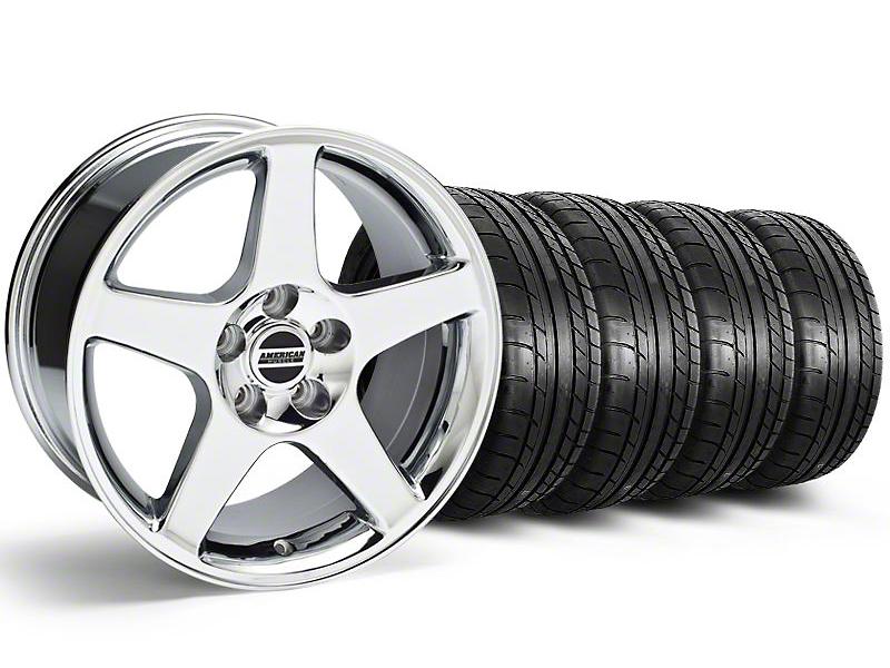 Staggered 2003 Cobra Style Chrome Wheel & Mickey Thompson Tire Kit - 17x9/10.5 (99-04 All)