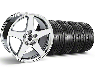 Staggered 2003 Cobra Style Chrome Wheel & Mickey Thompson Tire Kit - 17x9/10.5 (99-04 All)