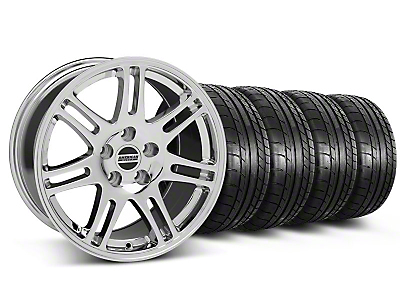 Staggered 10th Anniversary Style Chrome Wheel & Mickey Thompson Tire Kit - 17x9/10.5 (99-04 All)