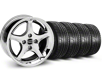 Staggered Cobra R Style Chrome Wheel & NITTO Tire Kit & Mickey Thompson Tire Kit - 17x9/10.5 (99-04 All)