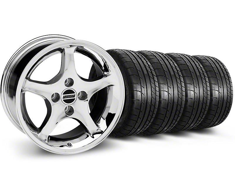 Staggered Cobra R Style Chrome Wheel & Mickey Thompson Tire Kit - 17x9/10.5 (99-04 All)
