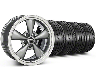 Staggered Bullitt Anthracite Wheel & Mickey Thompson Tire Kit 17x9/10.5 (99-04 All)