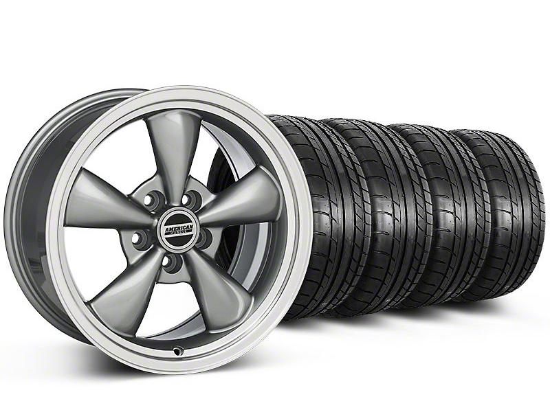 Staggered Bullitt Anthracite Wheel & Mickey Thompson Tire Kit 17x9/10.5 (99-04 All)