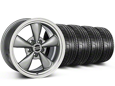 Staggered Bullitt Anthracite Wheel & Mickey Thompson Tire Kit - 17x9/10.5 (99-04 All)