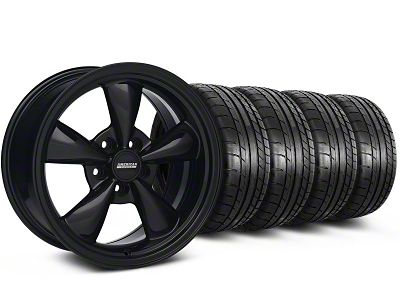 Staggered Bullitt All Black Wheel & Mickey Thompson Tire Kit 17x9/10.5 (99-04 All)