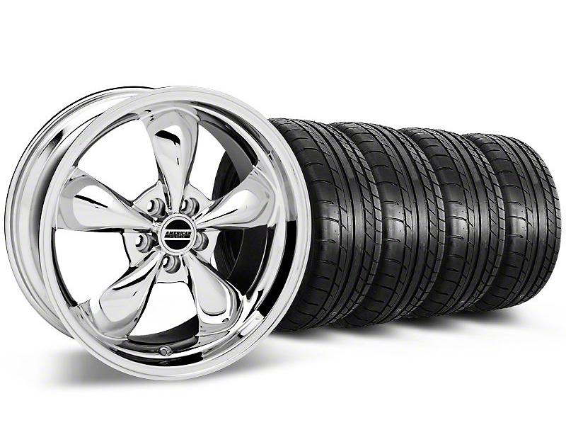 Staggered Bullitt Chrome Wheel & Mickey Thompson Tire Kit - 17x9/10.5 (99-04 All)