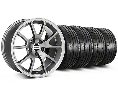 Staggered FR500 Anthracite Wheel & Mickey Thompson Tire Kit - 17x9/10.5 (99-04 All)