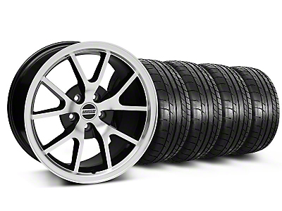 Staggered FR500 Black Machined Wheel & Mickey Thompson Tire Kit - 17x9/10.5 (99-04 All)
