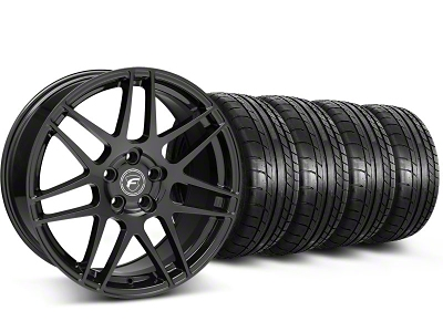 Forgestar Staggered F14 Piano Black Wheel & Mickey Thompson Tire Kit - 17x9/10.5 (99-04 All)