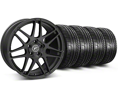 Forgestar Staggered F14 Matte Black Wheel & Mickey Thompson Tire Kit - 17x9/10.5 (99-04 All)