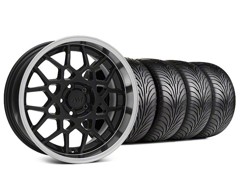 2013 GT500 Style Black Deep Dish Wheel & Sumitomo Tire Kit - 18x9 (94-98 All)