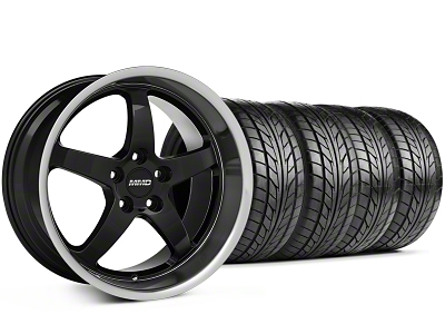 MMD Kage Black Wheel & NITTO Tire Kit - 18x9 (99-04 All)