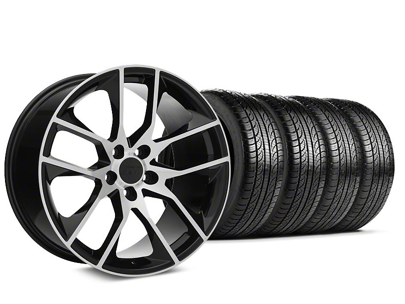 2015 Mustang GT Style Black Machined Wheel & Pirelli Tire ...