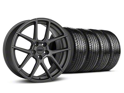 MMD Zeven Charcoal Wheel & Pirelli Tire Kit - 19x8.5 (05-14 All)