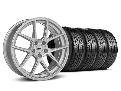 MMD Zeven Silver Wheel & Pirelli Tire Kit - 19x8.5 (05-14 All)