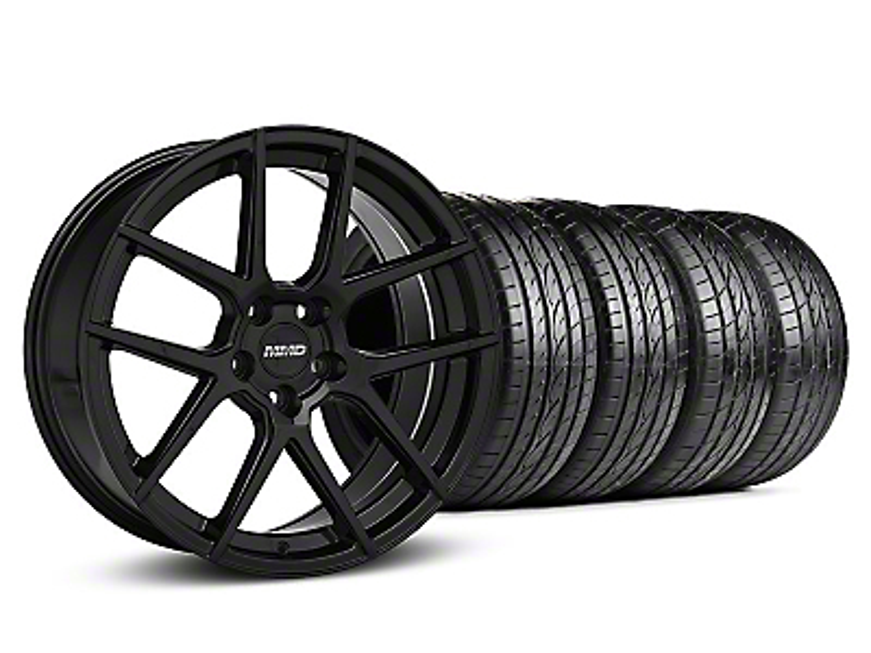 MMD Zeven Black Wheel & Sumitomo Tire Kit - 19x8.5 (05-14 All)