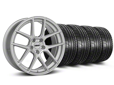 MMD Zeven Silver Wheel & Mickey Thompson Tire Kit - 19x8.5 (05-14 All)