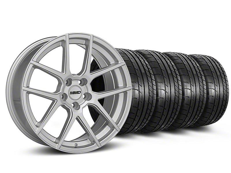 MMD Zeven Silver Wheel & Mickey Thompson Tire Kit - 20x8.5 (05-14 All)