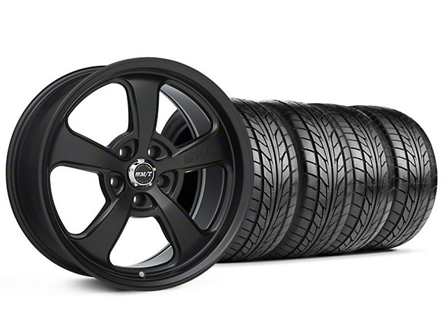 Staggered Mickey Thompson SC-5 Flat Black Wheel & NITTO Tire Kit - 17x9/10.5 (94-98 All)